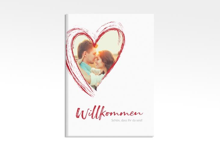 "Willkommensschild Leinwand ""Liebe"" 50 x 70 cm Leinwand rot"