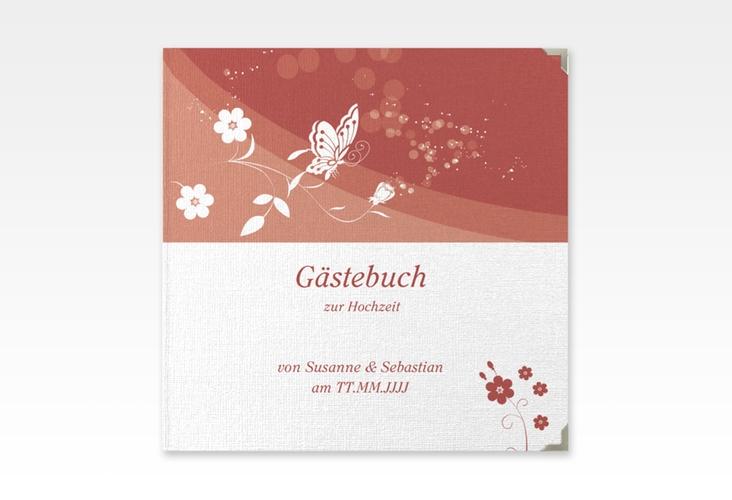 "Gästebuch Selection Hochzeit ""Verona"" Leinen-Hardcover rot"