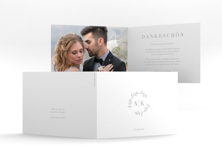 "Dankeskarte Hochzeit ""Filigrana"" A6 Klappkarte Quer"