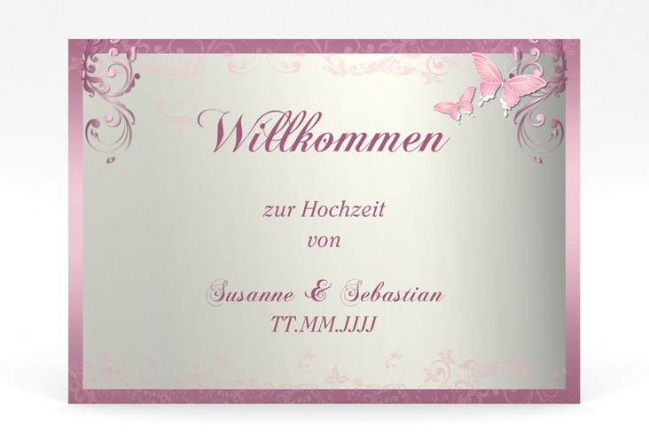 "Willkommensschild Poster ""Toulouse"" 70 x 50 cm Poster rosa"