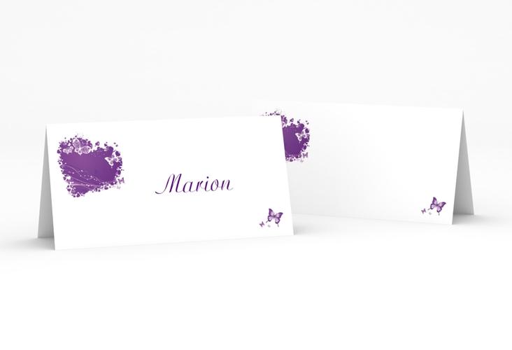 """Tischkarte Hochzeit """"Mailand"""" Tischkarten lila"""