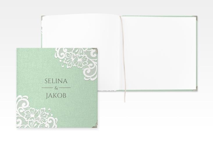 """Gästebuch Selection Hochzeit """"Vintage"""" Leinen-Hardcover mint"""