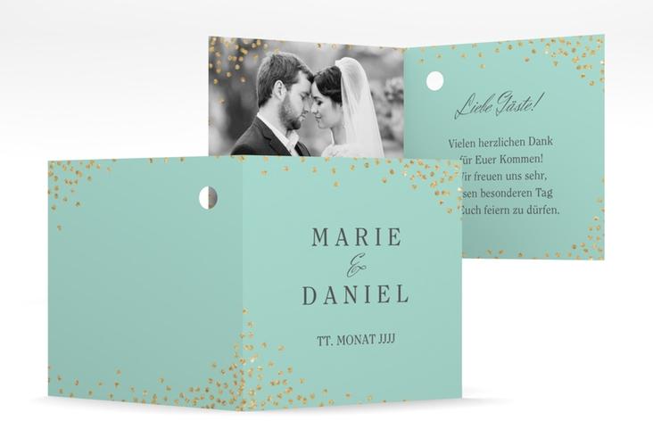 "Geschenkanhänger Hochzeit ""Glitter"" Geschenkanhänger 10er Set mint"
