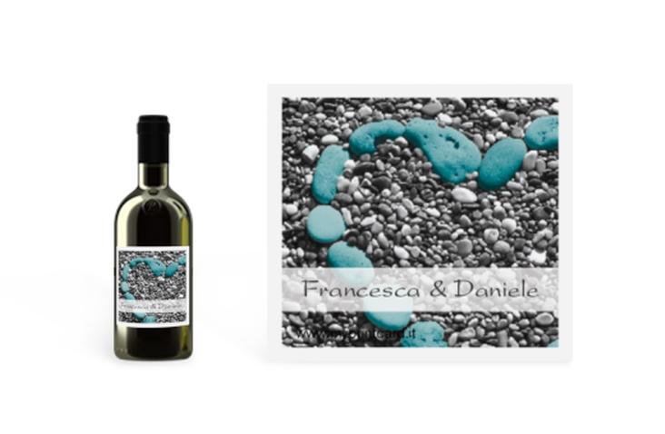 Etichette piccolo matrimonio collezione Bilbao Etikett Piccolo azzuro