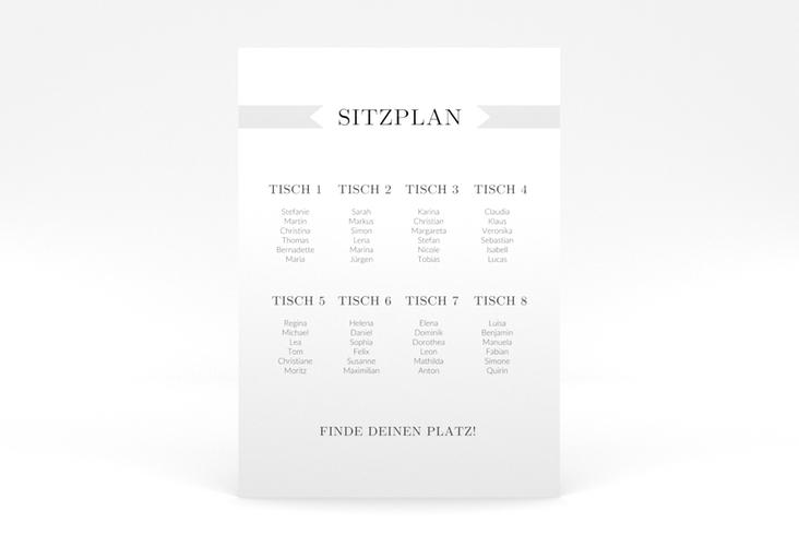 """Sitzplan Poster Hochzeit """"Tender"""" 50 x 70 cm Poster grau"""