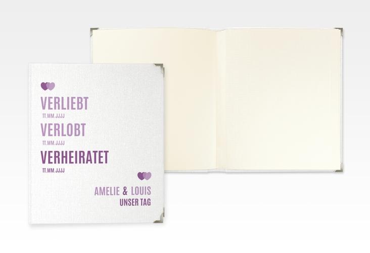 "Hochzeitsalbum ""Couple"" 21 x 25 cm lila"