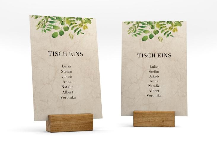 """Tischaufsteller Hochzeit """"Botany"""" Tischaufsteller"""
