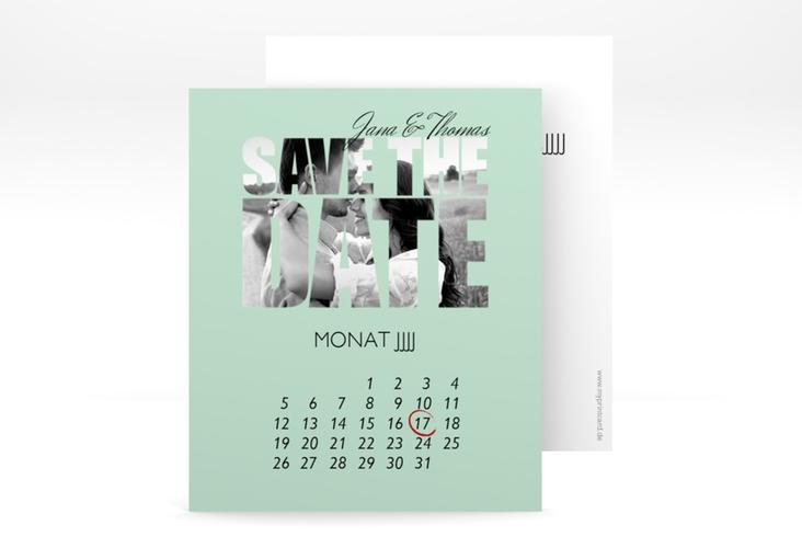 "Save the Date-Kalenderblatt ""Letters"" Kalenderblatt-Karte mint"