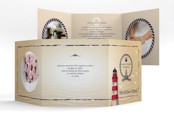 "Danksagungskarte Hochzeit ""Sylt"" Quadr. Karte doppelt"