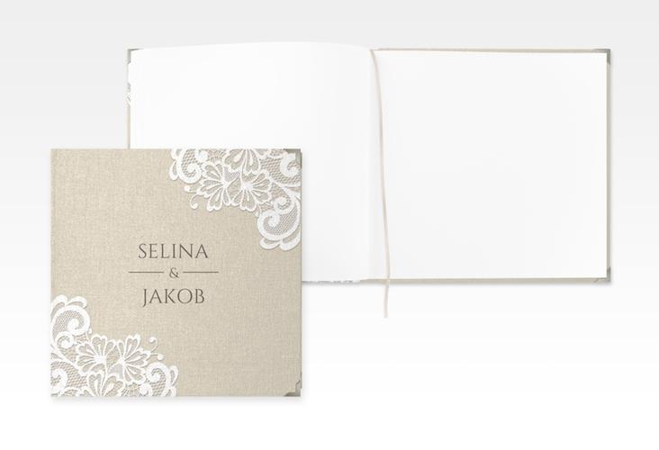 """Gästebuch Selection Hochzeit """"Vintage"""" Leinen-Hardcover"""