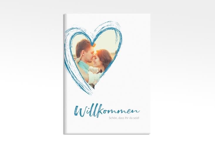 """Willkommensschild Leinwand """"Liebe"""" 50 x 70 cm Leinwand tuerkis"""