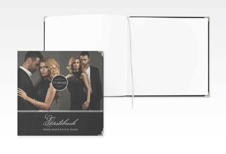 """Gästebuch Selection Hochzeit """"Elegancy"""" Leinen-Hardcover"""