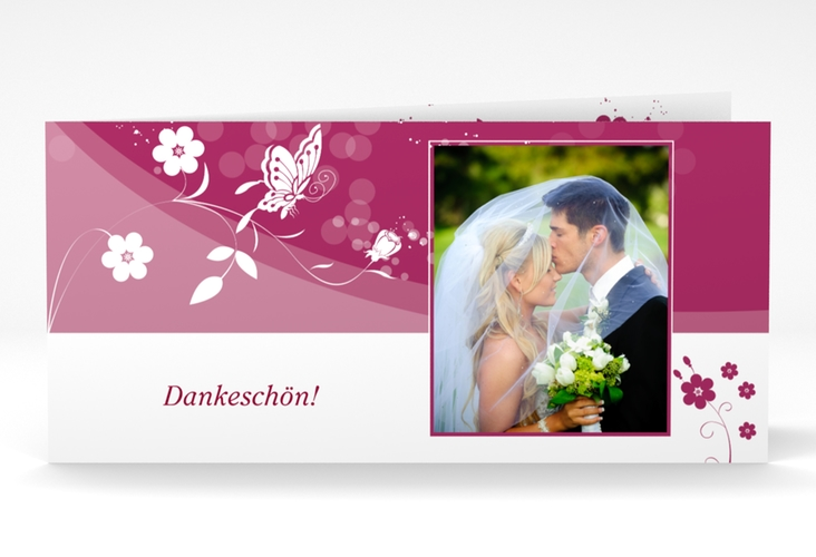 "Danksagungskarte Hochzeit ""Verona"" DIN lang Klappkarte"