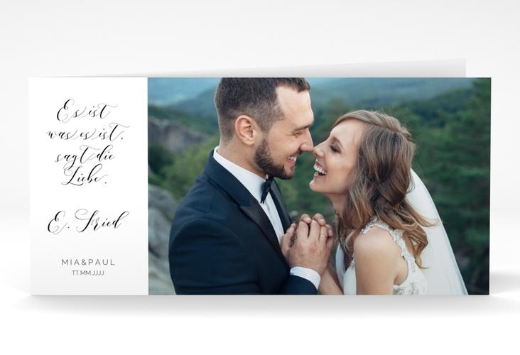 """Danksagungskarte Hochzeit  """"Paperlove"""" DIN lang Klappkarte weiss"""
