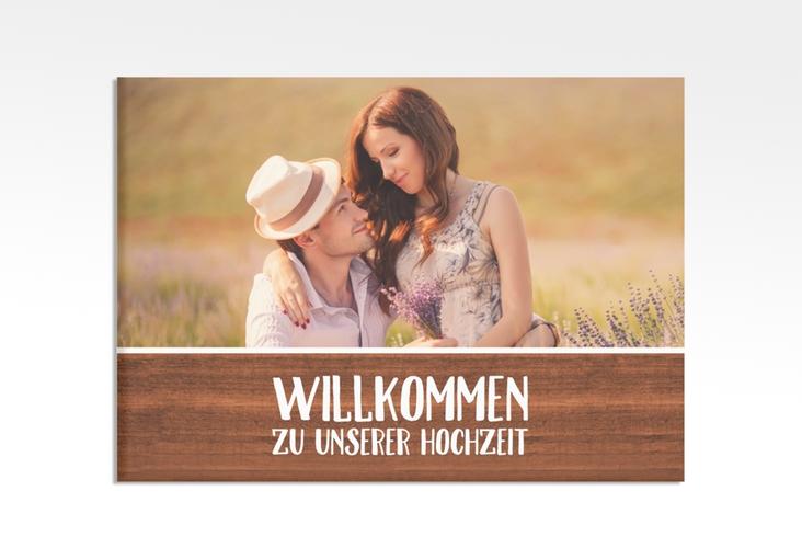 """Willkommensschild Hochzeit """"Landliebe"""" 70 x 50 cm Leinwand"""