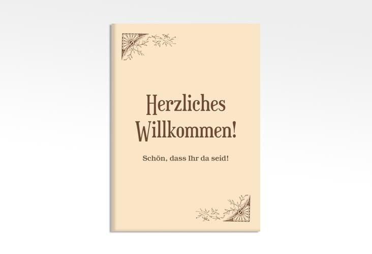 """Willkommensschild Hochzeit """"Storybook"""" 50 x 70 cm Leinwand"""