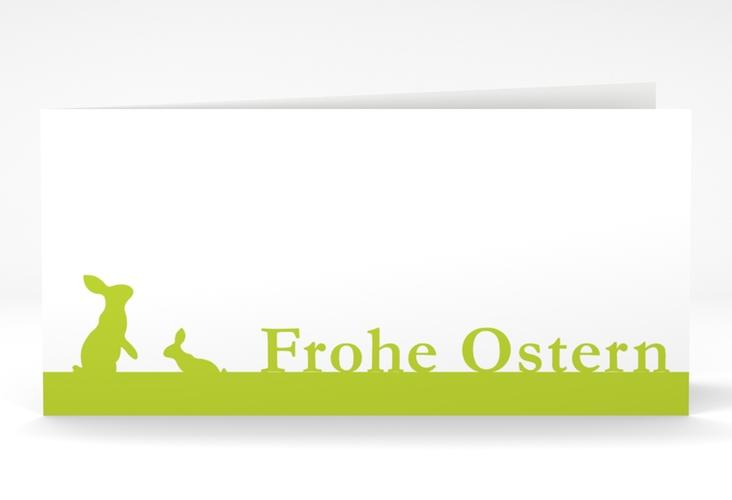 """Osterkarte """"Hasen"""" DIN lang Klappkarte"""