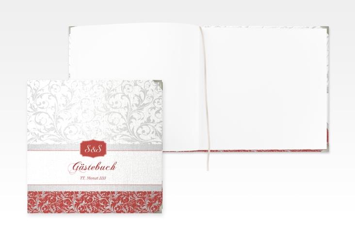 "Gästebuch Selection Hochzeit ""Latina"" Leinen-Hardcover rot"