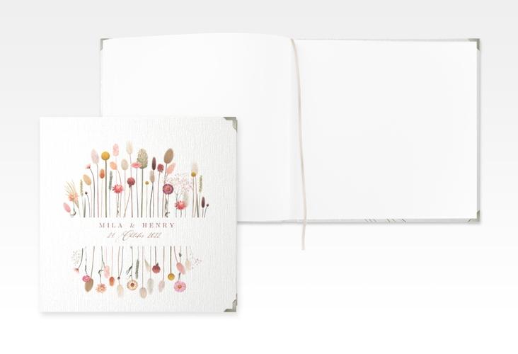"Gästebuch Selection Hochzeit ""Driedflower"" Leinen-Hardcover weiss"