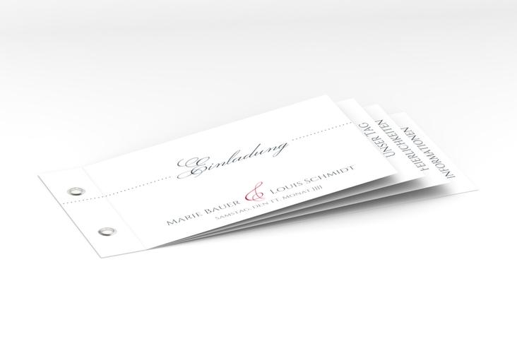 """Hochzeitseinladung """"Pure"""" Booklet rot"""