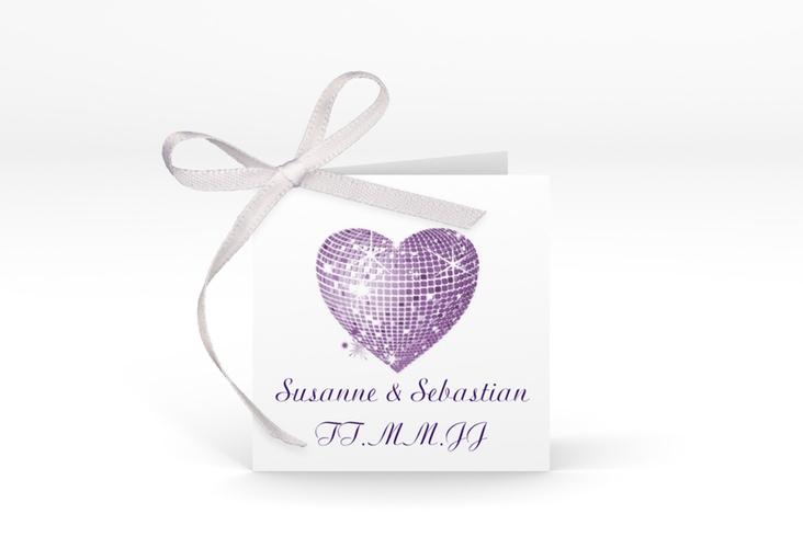 """Geschenkanhänger Hochzeit """"Rimini"""" Geschenkanhänger 10er Set lila"""