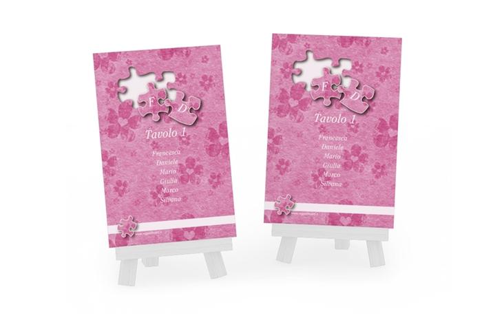 Segnaposti matrimonio collezione Bergamo Tischaufsteller rosa