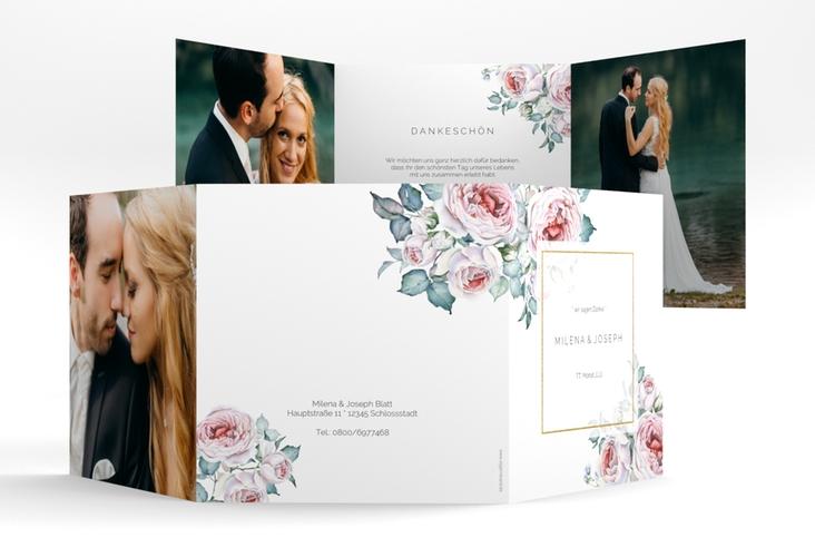 """Dankeskarte Hochzeit """"Embrace"""" Quadr. Karte doppelt"""