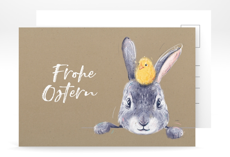 "Osterkarte ""Osterhase"" A6 Postkarte"