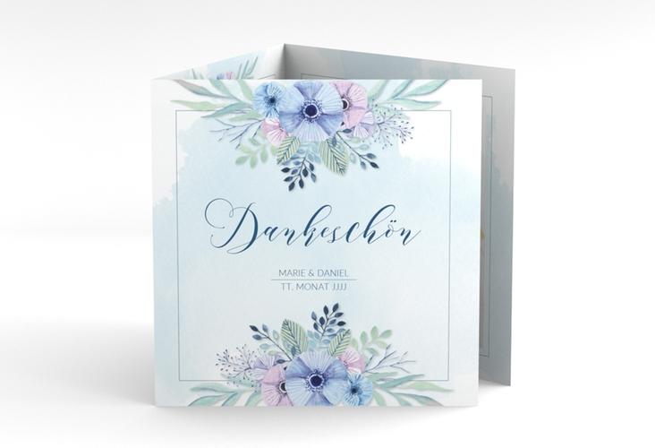 "Dankeskarte Hochzeit ""Surfinia"" Quadr. Karte doppelt"