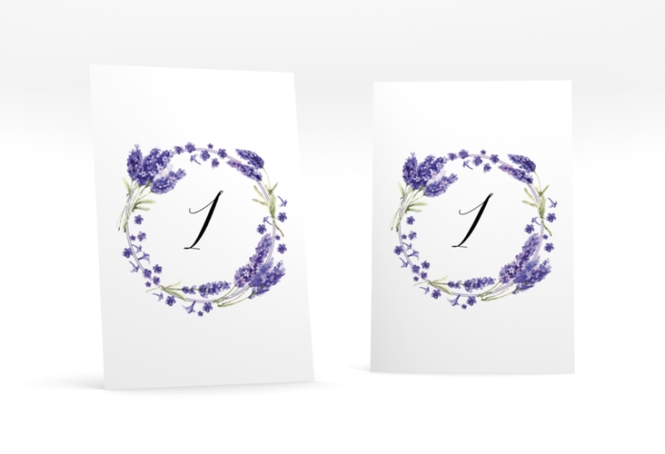 """Tischnummer Hochzeit """"Lavendel"""" Tischaufsteller"""