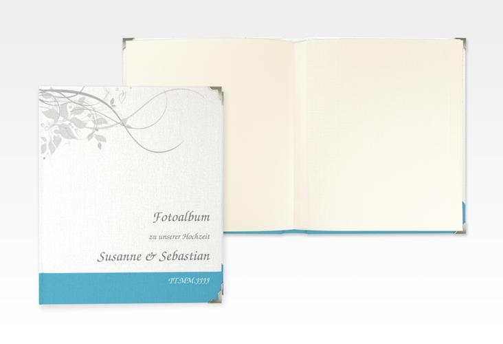 """Hochzeitsalbum """"Florenz"""" 21 x 25 cm tuerkis"""