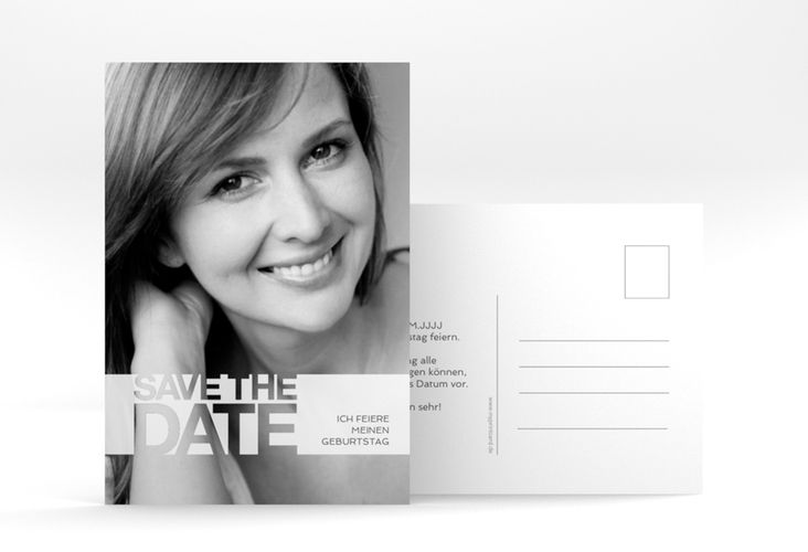 "Save the Date-Postkarte  ""Banderole"" A6 Postkarte"