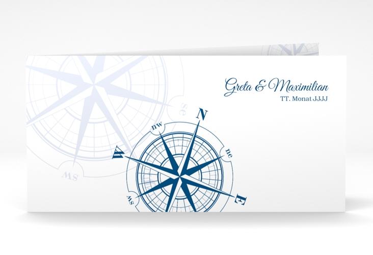 "Danksagung Hochzeit  ""Windrose"" DIN lang Klappkarte"