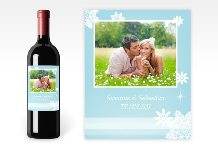 """Weinflaschenetikett Hochzeit """"Meran"""" Etikett Weinflasche 4er Set"""