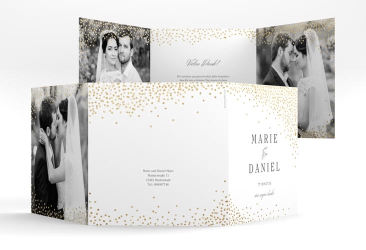 "Dankeskarte Hochzeit ""Glitter"" Quadr. Karte doppelt"