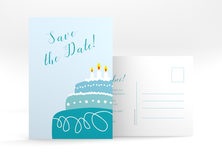 "Save the Date-Postkarte ""Cake"" A6 Postkarte"