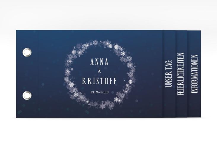 """Hochzeitseinladung """"Winterdream"""" Booklet"""
