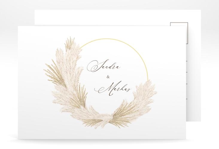 "Save the Date-Postkarte ""Pumila"" A6 Postkarte weiss"
