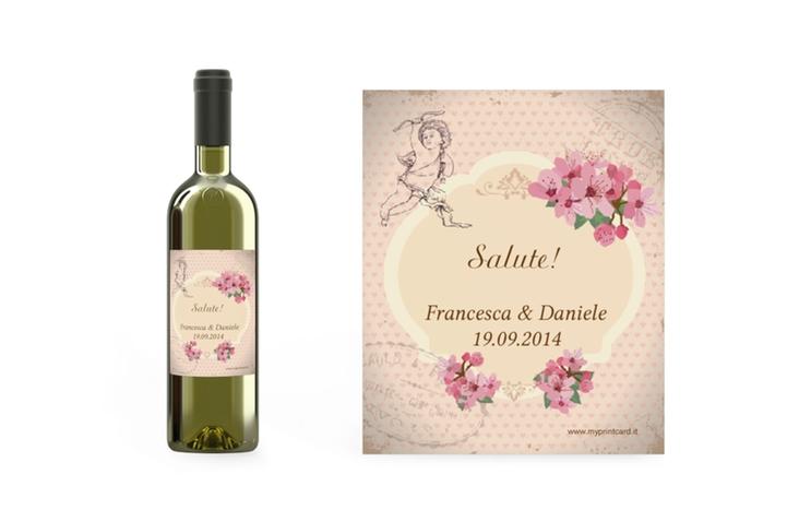 Etichette vino matrimonio collezione Chelles Etikett Weinflasche 4er Set