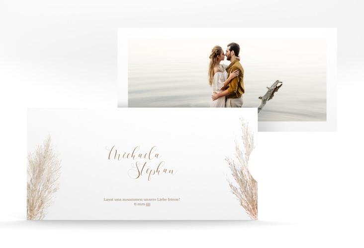 """Hochzeitseinladung """"Pampasgras"""" Einsteckkarte weiss"""