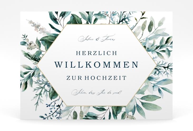 """Willkommensschild Poster """"Lumiere"""" 70 x 50 cm Poster weiss"""