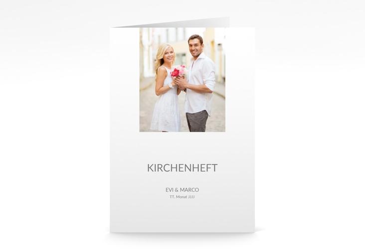 "Kirchenheft Hochzeit ""Vista"" DIN A5 geklappt weiss"
