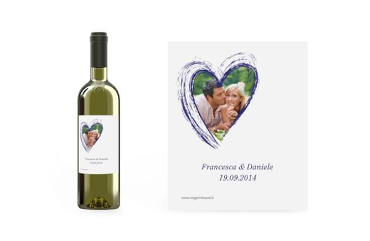 Etichette vino matrimonio collezione Tolone Etikett Weinflasche 4er Set