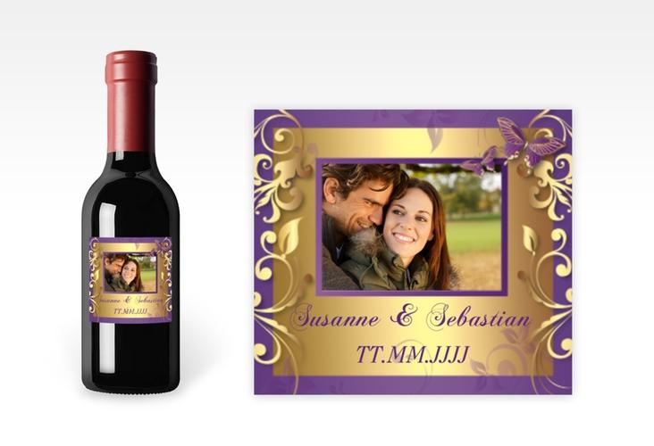 "Piccoloetikett Hochzeit ""Toulouse"" Etikett Piccolo lila"