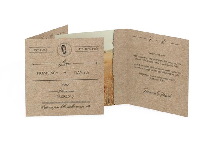 Inviti matrimonio collezione Colorado Quadratische Klappkarte