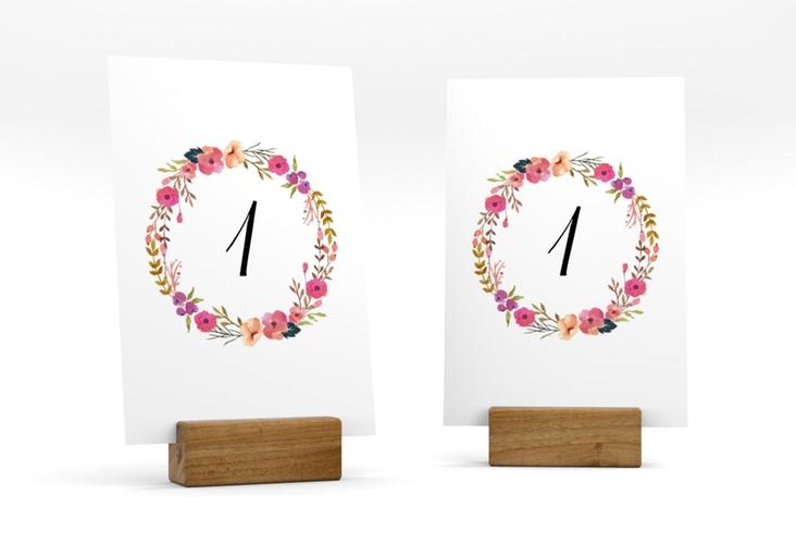 """Tischnummer Hochzeit """"Fiore"""" Tischaufsteller"""