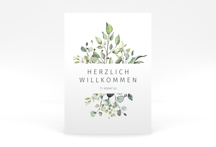"Willkommensschild Poster ""Enchanting"" 50 x 70 cm Poster weiss"