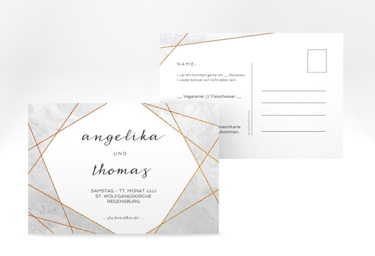"Antwortkarte Hochzeit ""Asymmetry"" A6 Postkarte"