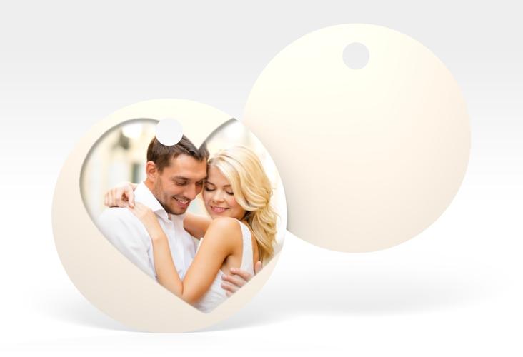 """Geschenkanhänger Hochzeit """"Sweetheart"""" Geschenkanhänger, rund beige"""