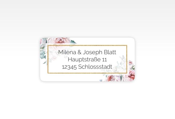 """Absenderetikett Hochzeit """"Embrace"""" 45,7 x 21,2 mm weiss"""